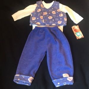 3 piece 18 month puppy out fit